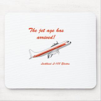 Lockheed Electra Vintage Aircraft Mouse Pad
