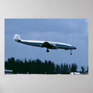 Lockheed L-1049 Super Constellation of Aerochago Poster