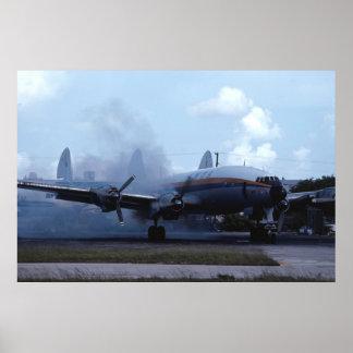 Lockheed L-1049 Super Constellation start up Poster