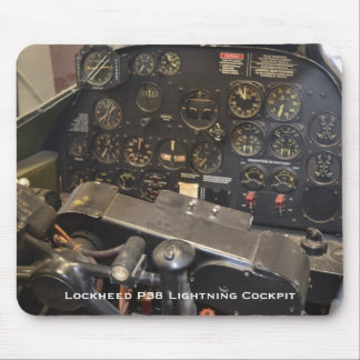Lockheed P38 Lightning Cockpit Mouse Mat