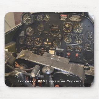 Lockheed P38 Lightning Cockpit Mouse Pad