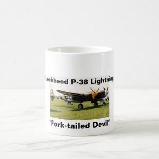 Lockheed P-38 Lightning Basic White Mug