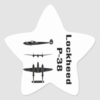 Lockheed P-38 Star Sticker