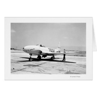 Lockheed P-80A Airplane Greeting Card