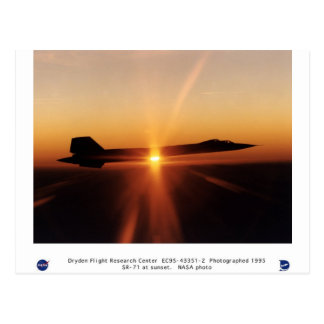 Lockheed SR-71 Blackbird Postcard