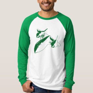Lockheed SR-71 Men's Baseball Tee - Green Design