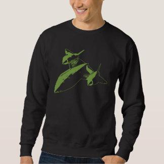 Lockheed SR-71 Men's Dark Sweatshirt - Lime Design