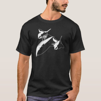 Lockheed SR-71 Men's Dark T-shirt - White Design