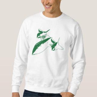 Lockheed SR-71 Men's Sweatshirt - Green Design