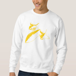 Lockheed SR-71 Men's Sweatshirt - Yellow Design
