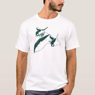 Lockheed SR-71 Men's T-shirt - Hunter Green Design