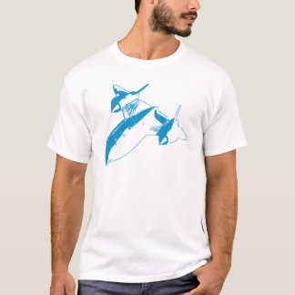 Lockheed SR-71 Men's T-shirt - Light Blue Design