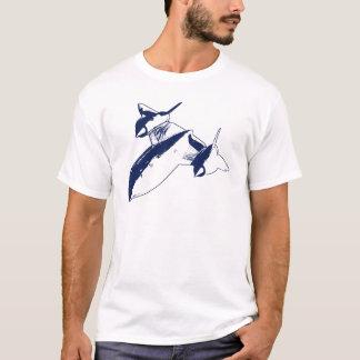 Lockheed SR-71 Men's T-shirt - Navy Blue Design