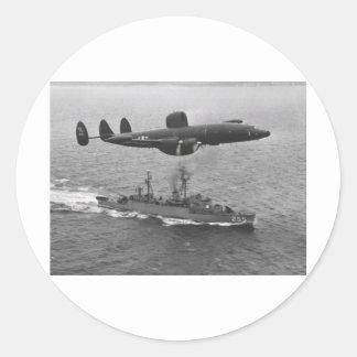 Lockheed WV-2 Super Constellation Classic Round Sticker