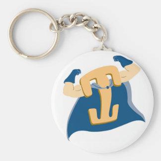 Locking Clip Man Basic Round Button Key Ring