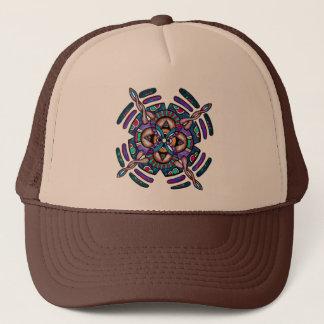 Locking in peace - funky cap peacocl color mandala