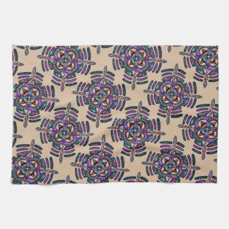 Locking in peace - kitchen towel peacock mandala