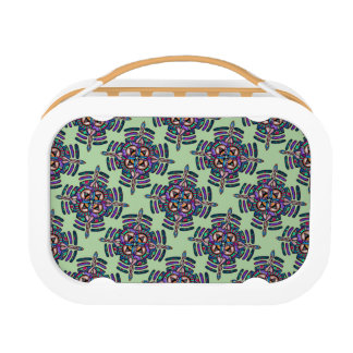 Locking in peace - lunch box peacock color mandala