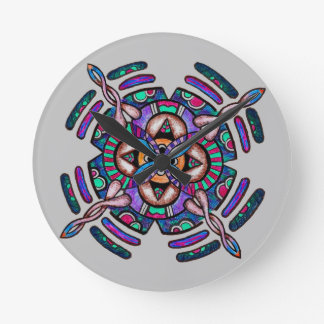 Locking in peace - wall clock peacock color