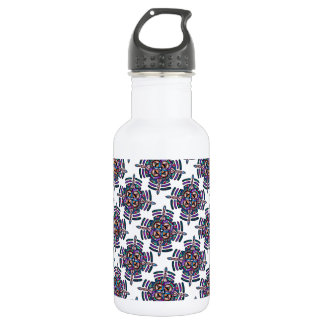 Locking in peace - water bottle peacock mandala