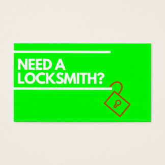 Locksmith Business Card Modern Bright Custom Text