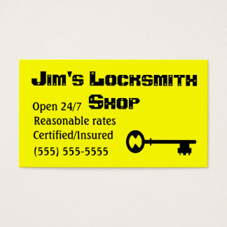Locksmith business cards