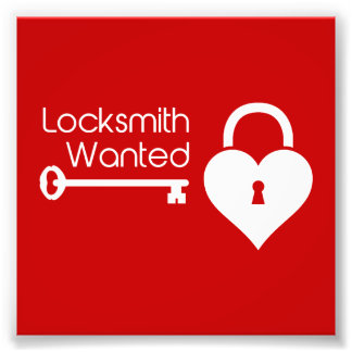 Locksmith Wanted Valentine's Day Heart Lock Art Photo