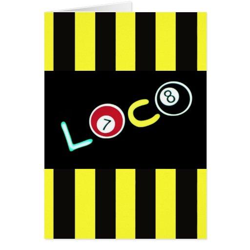Loco $2.45 greeting card