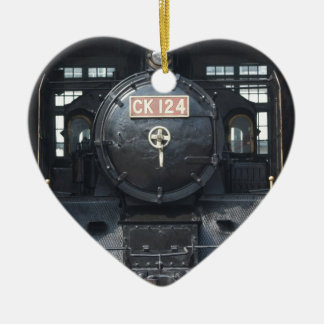 Locomotive at Changhua Roundhouse, Taiwan Christmas Ornament