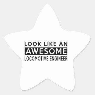 LOCOMOTIVE ENGINEER DESIGNS STAR STICKER
