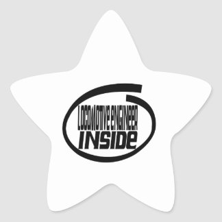 Locomotive engineer Inside Star Sticker
