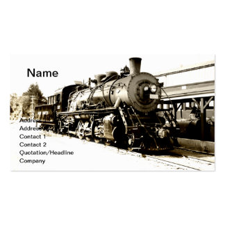 locomotive for a vintage steam train business card template