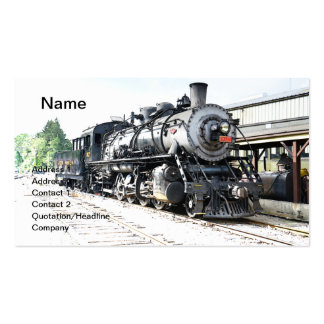 locomotive for a vintage steam train business cards
