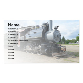 locomotive for a vintage steam train business card templates