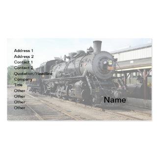 locomotive for a vintage steam train pack of standard business cards