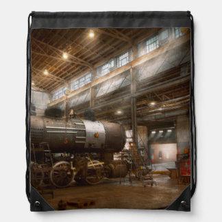 Locomotive - Locomotive repair shop Drawstring Bag