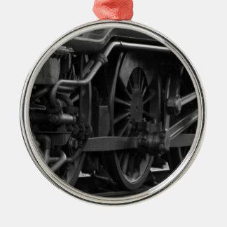Locomotive mechanic school Silver-Colored round decoration