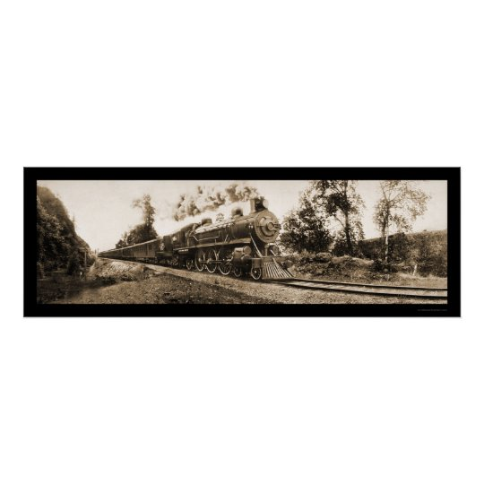 Locomotive Oregon Railroad Photo 1906 Poster