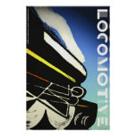 Locomotive poster print wall art graphics