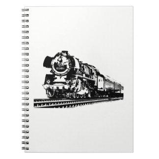 Locomotive Silhouette Notebook