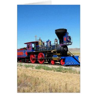 Locomotive Steam Engine Train Photo Greeting Card