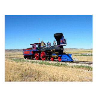 Locomotive Steam Engine Train Photo Postcard
