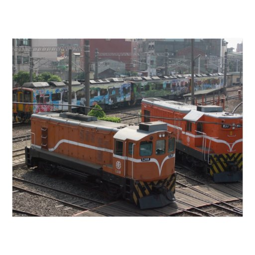 Locomotives at Changhua Roundhouse, Taiwan Personalized Flyer