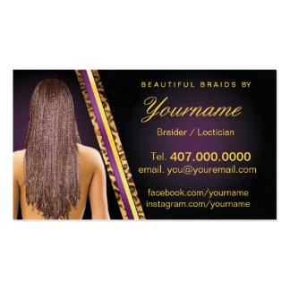 Loctician Hair Braider Salon Braids Pack Of Standard Business Cards
