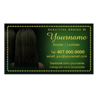 Loctician Hair Braider Salon Braids Pack Of Standard Business Cards