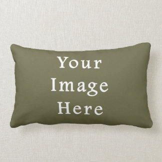 Loden Green Color Trend Blank Template Throw Pillow