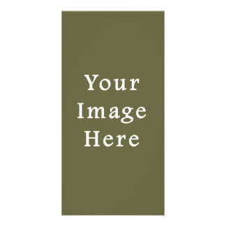 Loden Green Color Trend Blank Template Personalized Photo Card