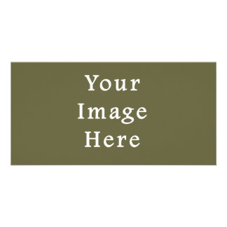 Loden Green Color Trend Blank Template Photo Cards