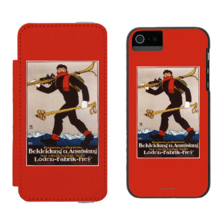 Loden Ski Clothes Skiing Advertisement Poster Incipio Watson™ iPhone 5 Wallet Case