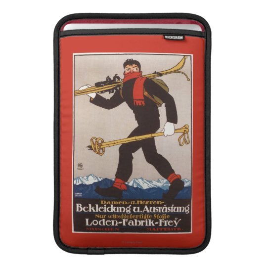 Loden Ski Clothes Skiing Advertisement Poster MacBook Air Sleeve